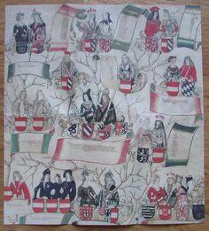 Faksimile STAMMBAUM DER HABSBURGER UND BABENBERGER ca. 1497