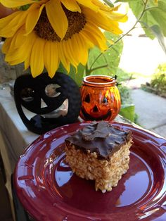 Saving the World One Bite at a Time: Chocolate-Covered Peanut Butter Krispy Treats