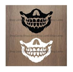 Skull Face Mask, Diy Face Mask, Easy Face Masks, Diy Mask, Half Skull, Stencils, Mascot Design, Skull Design, Design Art