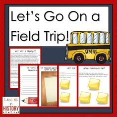 Let's Go On a Field Trip - A Place-Based Learning Guide for Visiting a Museum (product for purchase)