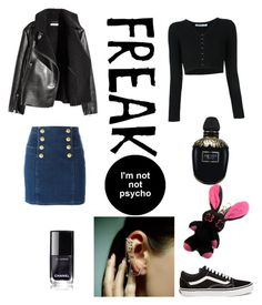 """""""Freak to the new age"""" by hollicakes on Polyvore featuring T By Alexander Wang, Balmain, Mike Saatji, Alexander McQueen and Vans"""