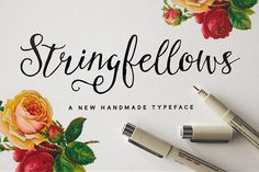 Calligraphy font: stringfellows http://www.bluchic.com/10-irresistible-calligraphy-fonts/
