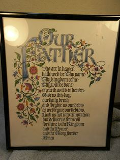 LORDS PRAYER in a frame 8 X 10 | eBay