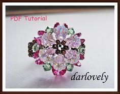 Pink Crystal Flower Ring