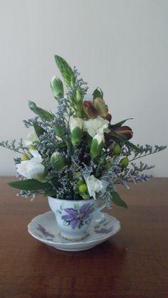 Teacup Flower Arrangement