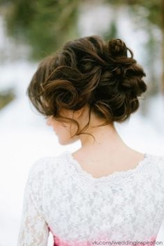 love this dark brown hair color.  and updo.