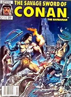 """CONAN """"THE BARBARIAN"""" VOL 1, #166 NOV. 1989"""
