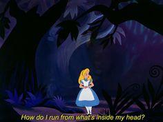 Deep🌊 cartoon feelings Alice in Wonderland aesthetic Alice In Wonderland Aesthetic, Alice And Wonderland Quotes, Cartoon Quotes, Funny Quotes, Sassy Quotes, Cartoon Art, Citations Film, Mood Pics, Deep