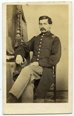 Nice Seated Civil War Federal Officer CDV by R L Andrew of Hillsdale Michigan