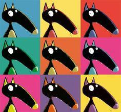 Loup à la manière d'Andy Warhol