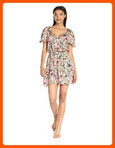 MINKPINK Women's Wattle Wonder Floral-Print Cape Shoulder Dress, Multi, Small - All about women (*Amazon Partner-Link)