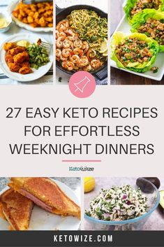 I've put together my favorite effortless and easy Keto recipes to make your Keto diet less boring without the work. The perfect dinners for busy weeknights! Low Carb Shrimp Recipes, Salad Recipes Low Carb, Low Carb Dinner Recipes, Keto Recipes, Chicken And Beef Recipe, Low Carb Meal Plan, Vegetarian Options, How To Make Salad, Ground Beef Recipes