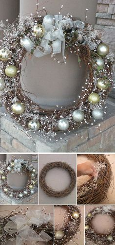 Wonderful looking Christmas wreath in silver and gold color combination. The all natural colors on this wreath blend well together thus making it look pleasant in the eyes and perfect for just about any home decor.