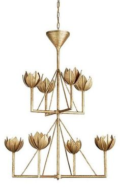 Alberto Chandelier, Antique Gold Leaf - Julie Neill for Visual Comfort - Brands | One Kings Lane