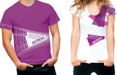 Studio Sparrowhill has designed the new identity for charity Pancreatic Cancer Action, with the aim of humanising the charity through a logo that reflects the shape of the organ itself. News Design, Logo Design, Graphic Design, Korea Fashion, Pop Fashion, Corporate Shirts, T Shorts, Sport T Shirt, Identity