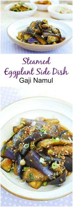 Delicious Korean eggplant side dish!