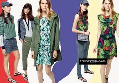 the tropical prints, exaggerated, macro, revised by digital art as well. From left to right: Cardigan http://it.pennyblack.com/p-2361015003004-olandese-verde Giacca/Jacket http://it.pennyblack.com/p-2041015003003-baciare-fantasia-blu-marino Parka http://it.pennyblack.com/p-3021995003002-abbracci-verde-kaki Pantaloni/Stripy pants http://it.pennyblack.com/p-2131155003002-lazio-fantasia-blu-marino