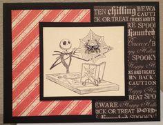 Nightmare Before Christmas Jack Skellington Spider HalloweeN Card Orange