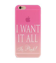 'Because I love PINK' transparent case