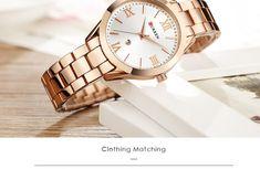 Women's Luxury Watches For Travel And Fashion – Voyage Afield Gold Watches Women, Rose Gold Watches, Ladies Bracelet Watch, Crystal Bracelets, Quartz Watch, Watch Women, Steel, Choices, Minimalist