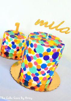 Confetti Birthday Cake and Smash Cake