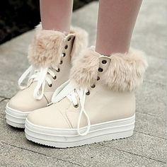 zapatos de las mujeres del dedo del pie redondo botines de tacón bajo más colores disponibles - USD $ 27.99