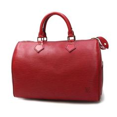 Louis Vuitton Speedy 30 Epi Handle bags Red Leather M43007