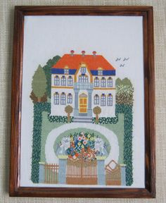 Cozy cottage cross  stitch embroidery picture  от NatalyZigZag, $270.00