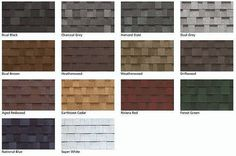 Some Of The Many Roofing Shingle Color Choices Capecod