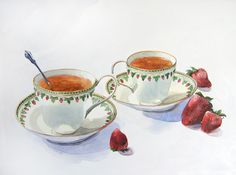 Wedding Teacups by Sara Argue