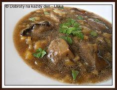 """Hříbková""""lahůdková""""polévka Beef, Food, Meat, Hoods, Meals, Ox, Ground Beef, Steak"""