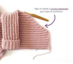 Crochet Kimono for Baby [ Tutorial y Patrón GRATIS ] - Bestselling Outer Wears Baby Knitting Patterns, Baby Patterns, Crochet Patterns, Knitted Baby Cardigan, Crochet Jacket, Kimono Pattern Free, Baby Kimono, Bobble Stitch, Crochet Baby Clothes