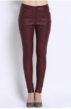 new designs fashion stretch leather leggings for sale | Genuine ...