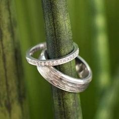 Pavé Diamond Eternity Ring and River Ring from Brilliant Earth 💙💗💚