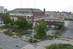 Abandoned police station in Highland Park, MI- what a waste. Hopefully, Detroit will make a come back.
