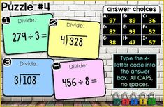 Math Cheat Sheet, Cheat Sheets, Teaching 5th Grade, 5th Grade Math, Division Algorithm, Long Division, Math Notebooks, Escape Room, 5th Grades