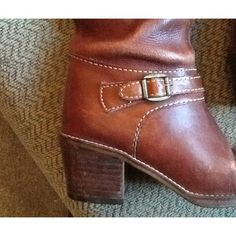 REDUCED!  REAL VINTAGE 70's/80's, sz 8, killer riding / equestrian boots. Even nicer than #FRYE boots!  Brown leather with perfect patina, side zip closure. Just GORGEOUS!  Will ship right away! CHECK OUT MY OTHER PRICEY ITEMS