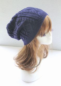 Blue Cable Knitted Hat