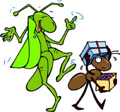 Ant and the Grasshopper easy to learn story for little kids. Stories For Kids, Short Stories, Bug Cartoon, Integrated Pest Management, Sweet Drawings, Story Drawing, Save My Money, France, Bedtime Stories