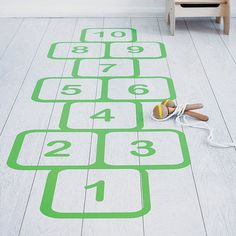 I've just found Hopscotch Vinyl Floor Sticker. A fantastically fun hopscotch vinyl floor sticker. Add this to laminate/wooden flooring in a playroom or child's room to add some interactive fun.. £49.00