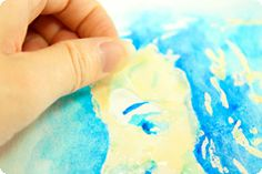 How to transfer photos for easy water coloring. Whoa!