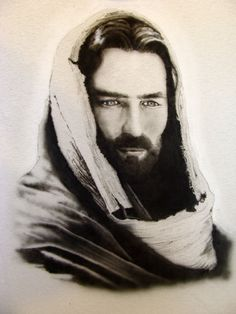 """Jesus from the movie """"The Passion of the Christ"""" (Airbrushing)  Nice work, not that big a fan of the movie."""