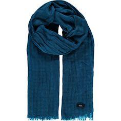 Dark Blue Frayed Scarf Tk Maxx, Dark Blue, Scarves, Fashion, Scarfs, Moda, Deep Blue, Fashion Styles, Fashion Illustrations