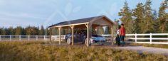 Carport aus Holz CLASSIC, 18 m² - pineca.de