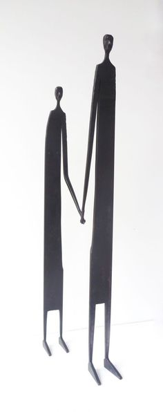 Mild steel Fabricated Metal Abstract sculpture by artist James Adams titled: 'Better Together'
