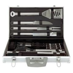 Mr. Bar-B-Q 30-Piece Stainless Steel BBQ Tool Set-02191 at The Home Depot