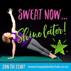Sweat Now...SHINE LATER!   HappyBodies believe in Wellness that works with your life,  enjoying exercise, sustainable weight loss, and self-care not guilt and fear  Become a member of #HappyBody and get  instant access to:  Exercise plans that inspire and motivate you  Our vibrant and supportive #HappyBody community of happy, healthy and like-minded women!  Join the HAPPY BODY CLUB, Home of Healthy Living. Exercise Plans, Instant Access, Happy Healthy, Other Woman, Motivate Yourself, Self Care, Healthy Living, How To Become, Join