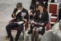 Crown Prince Frederik was very moved, as he and Crown Princess Mary attended a memorial service for the ending of WOII in Copenhagen today, 5th of May 2015.
