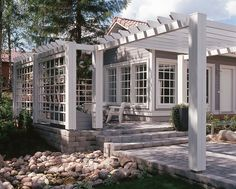 Messutalo Vihervaara Hämeenlinna - Kannustalo Summer House Garden, Home And Garden, Outdoor Spaces, Outdoor Living, Outdoor Decor, Wooden Architecture, Outside Patio, Covered Pergola, Garden Planning