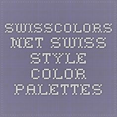 swisscolors.net Swiss Style Color Palettes